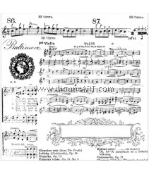 Clear Stamp, Music, Sold individually