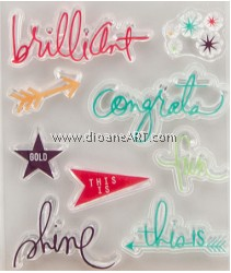 Clear Stamp, Words#2, Sold individually