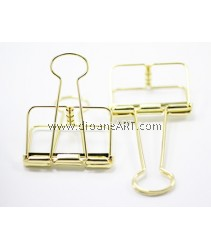 Binder Clips, Gold, Size-Small 4.2x2.2cm, 2 /pack