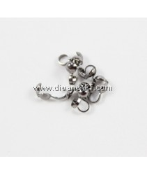 Bead Tip (Clamshell), Bottom Clamp-On, 4mm, Silver-Plated Brass, Sold per pack of 30 pcs