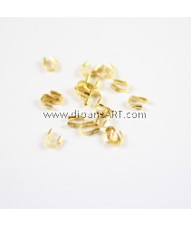 Brass Wire Guardian nd Protectors, Brass, Golden, 4x5x1mm, hole: 0.5mm, 50 pcs/pack