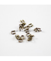 Brass Wire Guardian, Antique Bronze, Size: 4x5x1mm, hole: 0.5mm, 50 pcs/pack