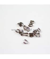Brass Wire Guardian, Black, Size: 4x5x1mm, hole: 0.5mm, 50 pcs/pack
