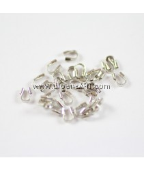 Brass Wire Guardian, Platinium Color, Nickel Free, 4x5x1mm, hole: 0.5mm, 50 pcs/pack