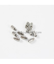 Stainless Steel End Caps, Original Color, 4x9mm, 2mm, Hole:Approx 1.5mm, pack/4pcs