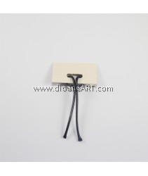 Wax Cord, Black Color, 2mm, Sold by per pack of 10 meters
