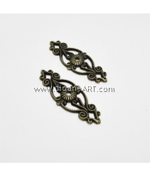 Decorative Carved Metal Corner Pieces, xmm, Bronze, 2pcs/pack