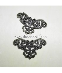 Decorative Craved Metal Corner, xmm, Bronze, 2pcs/pack