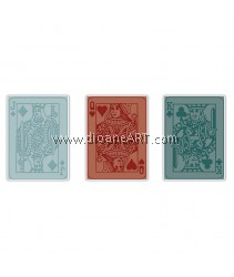 Sizzix Texture Trades Embossing Folders-Poker Face Set