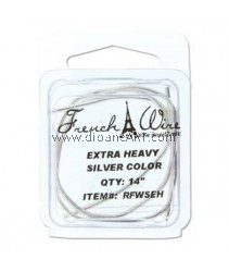 French Wire, Silver Colour, Extra Heavy (1.8MM) - 14inch.  Sold per pack of 14 inch
