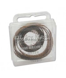 the Beadsmith, Tubular Metallic Wire Ribbon, Brown, 6mm, 1 meter/card