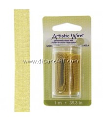 Wire Mesh, Artistic Wire®, Gold, 10mm, 1 Meter/Card