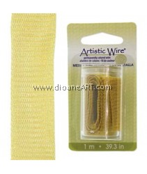 Wire Mesh, Artistic Wire®, Gold, 18mm, 1 Meter/Card