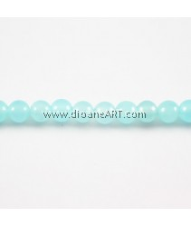 Amazonite Beads, Round, Natural, 4mm, Hole: Approx 15Inch, 1 strand
