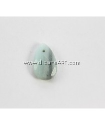 Amazonite Beads, Teardrop, faceted, 28x18x7mm, Hole: Approx 1.5mm, Sold by per pcs