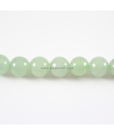 Aventurine Beads, Green Aventurine, Round, Natural, 8mm, Hole: Approx 1mm, Length: Approx 15.5Inch, pack/1strand