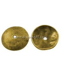 Bead Cap, Round, Lead & Cadmium & Nicker Free Alloy, Antique Golden, 13mm, Hole:2mm, 20/pack