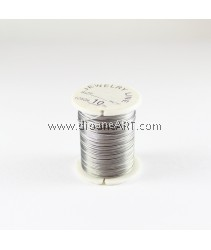 Tiger Tail Wire, Stainless Steel, Original Color, 0.45mm, Length: 10m. /spool