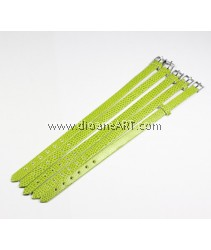 Watch Band Strap, Green Colour, 22cm long x 7.5cm wide x 1cm tick, 5/pack