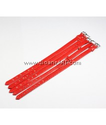 Watch Band Strap, Red Colour, 22cm long x 7.5cm wide x 1cm tick, 5/pack