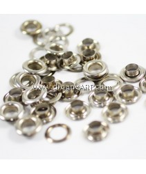 Eyelet with Washer, Silver Colour, 7.8mm, 25 pcs/pack
