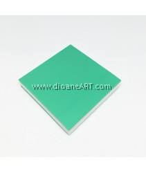 Rubber Stamp Carving Block, Colour: lightgreen3+White, 5x5x0.8cm