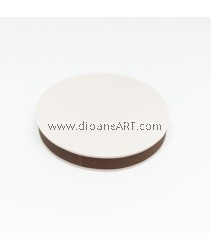 Rubber Stamp Carving Block, Round, Colour: brown+White, 5cm
