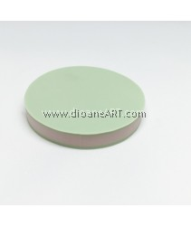 Rubber Stamp Carving Block, Round, Colour: green1+White, 5cm