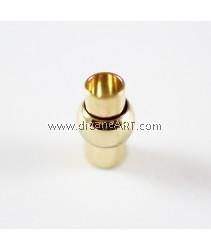 Brass Magnetic Clasp, Lantern, gold color plated, single-strand, nickel, lead & cadmium free, 9x16.5mm, Hole:Approx 5mm, Sold per pack of 3 pcs