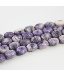 Natural Coral Beads, Nuggets, Sponge Coral, Purple, around 12x18mm, Hole: Approx 1~2mm, Length: 15Inch, pack/1strand