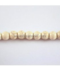 Gemstone Neads Strands, Synthetical Howlite, about 8mm in diameter, hole: 0.8mm, Sold by per strand