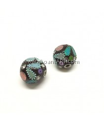 Handmade Indonesia Beads, Hole:4mm, 22.5mmx23mm, 2pcs/pack