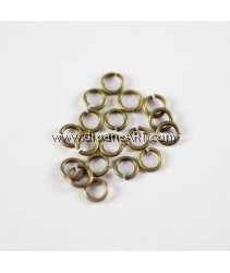 Jump Rings, Close but Unsoldered, Brass, Antique Bronze, 0.8x4mm , 10g/pack