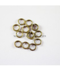 Jump Rings, Close but Unsoldered, Brass, Antique Bronze, 5x1mm, 10g/pack