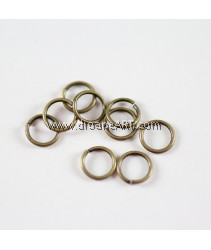 Jump Rings, Close but Unsoldered, Brass, Antique Bronze,7x1mm, 10g/pack