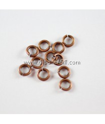 Jump Rings, Close but Unsoldered, Brass, Red Copper Color, 5x1mm. 10g/pack