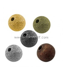 Stardust Beads, Brass, Mixed Colour, Round, 4mm, Hole:1mm, pack/100pcs