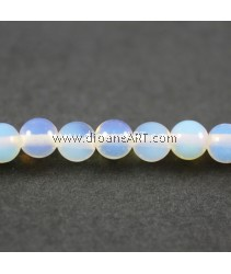Sea Opal Beads, Round, 6mm, , Hole: Approx 0.5~1mm, Sold by per strand 15.5inch