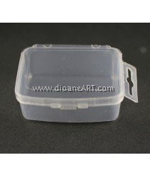 Clear Plastic Bead Containers with Lid, 5cm x 7 x 3cm. Pack of 3 pcs