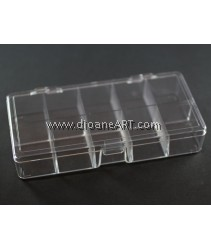 Plastic Beads Storage Container, Clear, Rectangular, 8.9 x 17.4 x 3.1cm