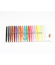 Sewing Thread, 21 colours 3 meter each, Sold per 2 cards