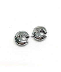 Side Beads/Charm, Alloy Rhinestone, Letter C, nickel free, 12mm, Hole:8.2x0.8mm, 2/pack