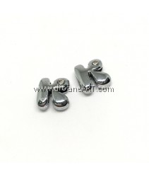 Side Beads/Charm, Alloy Rhinestone, Letter K, nickel free, 12mm, Hole:8.2x0.8mm, 2/pack