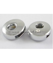 Side Beads/Charm, Alloy Rhinestone, Letter O, nickel free,12mm, Hole:8.2x0.8mm, 2/pack