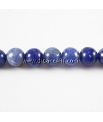 Sodalite Beads, Round, Natural, 6mm, Hole: 1mm, 15.5Inch, Sold by per strand