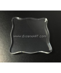 Clear Block for Stamping, 10x10cm, 1/pack
