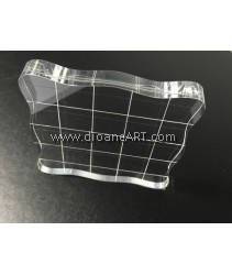 Clear Block for Stamping, with line, 7.5x7.5cm, 1/pack