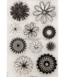 Clear Stamp, Flower, Sold individually