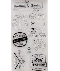Clear Stamp, Knitting & Sewing, Sold individually