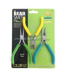 BeadSmith Pliers set, ChainNose, RoundNose, SideCutter, Sold by 3pcs/set